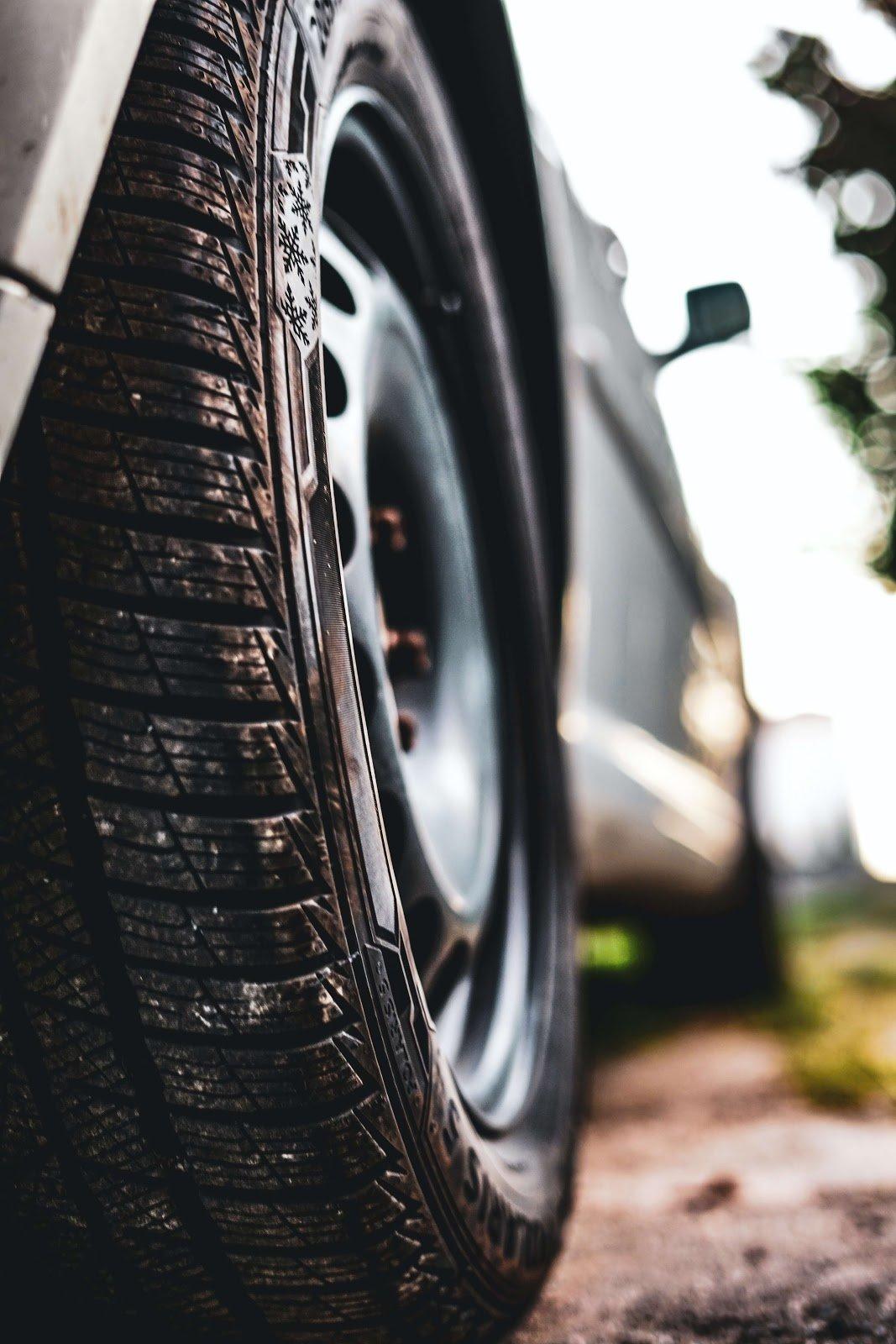 Tire on car