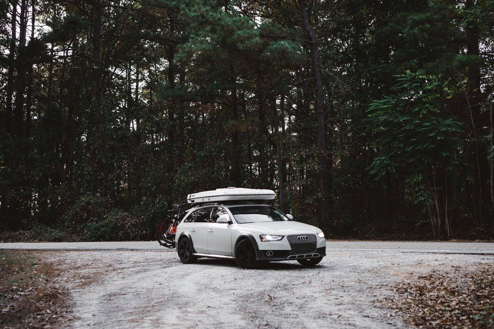 white car on snow