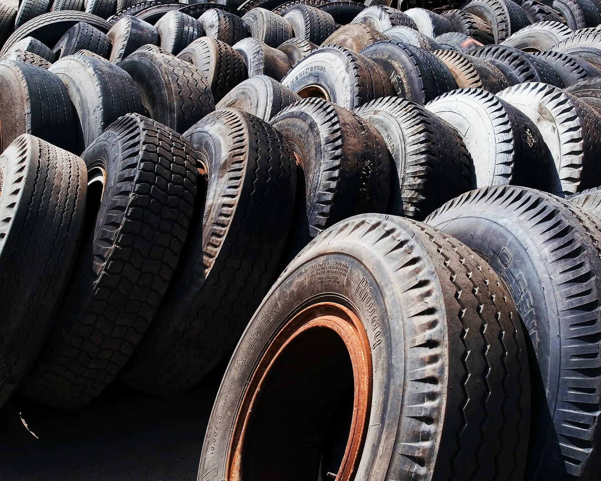 car tires stored